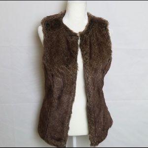 Jackets & Blazers - Faux Fur Brown Vest